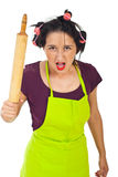 Furious housewife Royalty Free Stock Image