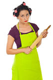 Furious housewife waiting you Stock Photos