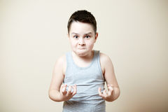 Furious kid stock images