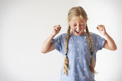 Furious little girl Royalty Free Stock Photo