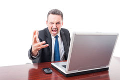 Furious and mad lawyer screaming Royalty Free Stock Photos