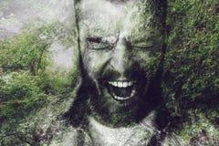 Furious man. Stock Images