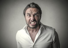 Furious man Stock Photography