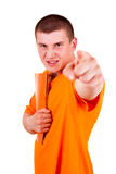 Furious man pointing on you Royalty Free Stock Image