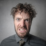 Furious man. Portrait of a furious man Royalty Free Stock Images