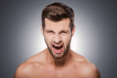 Furious man. Royalty Free Stock Photography