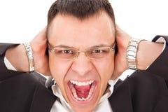 Furious man yelling Royalty Free Stock Image