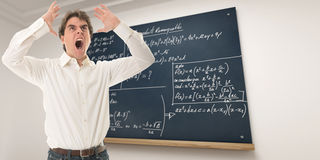 Furious maths teacher Royalty Free Stock Photos