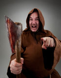 Furious medieval executioner Stock Image