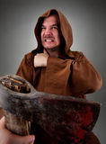 Furious medieval executioner Royalty Free Stock Photos