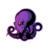 Furious octopus sport vector logo concept isolated on white background. Stock Images