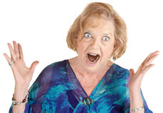 Furious Old Lady Royalty Free Stock Images