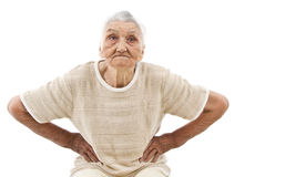 Furious old lady Royalty Free Stock Photography