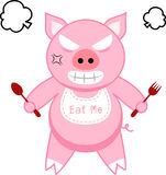 Furious pig. Pig is being furious because of hunger royalty free illustration