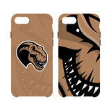 Furious piranha sport vector logo concept smart phone case isolated on white background. Stock Image