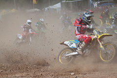 Furious Racers. Motocross racers at 49. int. Motocross in Germany (5 June 2011 Stock Image