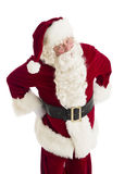 Furious Santa Claus Standing With Hands On Hips. Portrait of furious Santa Claus standing with hands on hips isolated over white background Stock Images