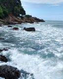 Furious sea. A landscape of sea in Ubatuba stock images