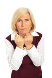 Furious senior woman Royalty Free Stock Photo
