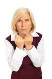 Furious senior woman Royalty Free Stock Photo