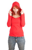 Furious, shouting young woman Royalty Free Stock Image