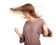 Furious, shouting young woman Stock Images