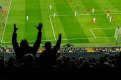 Furious Soccer spectators Stock Images