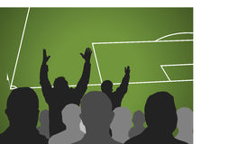 Furious soccer spectators Royalty Free Stock Photo