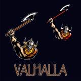 Furious strong viking Stock Photo