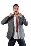 Furious of the tie Royalty Free Stock Photo