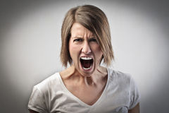 Furious woman Royalty Free Stock Photos