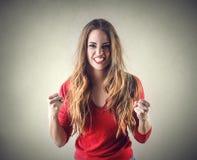 Furious woman Stock Photography