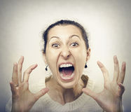 Furious woman screaming Royalty Free Stock Images