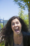Furious woman shouting you Royalty Free Stock Photos