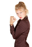 Furious young attractive woman Stock Images