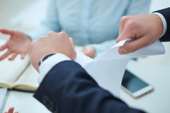 Free Furious Young Businessman Tearing Up Employment Contract. Royalty Free Stock Photos - 82615868
