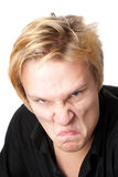 Furious Young Man Royalty Free Stock Images