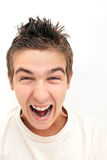 Furious Young Man Royalty Free Stock Photo