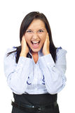 Furious young woman screaming Stock Photography