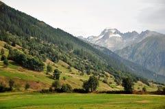 furka的阿尔卑斯在瑞士通过 免版税图库摄影