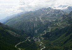 Furka pass Royalty Free Stock Photography
