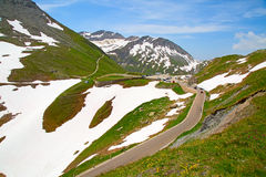 Furka pass Royalty Free Stock Image