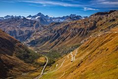 Furka Pass, Swiss Alps. stock photos