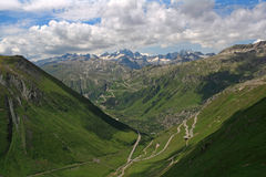 Furkapass in Switzerland Stock Photos