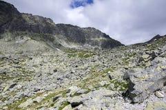 Furkot valley hiking trail in High Tatras, summer touristic season, wild nature, touristic trail,. Hard terrain Royalty Free Stock Photos