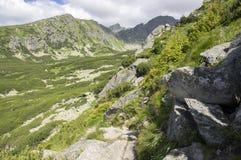 Furkot valley hiking trail in High Tatras, summer touristic season, wild nature, touristic trail,. Hard terrain Royalty Free Stock Photography