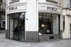 Furla fashion store Stock Photography