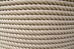 Furled rope. Rope furled on a big cylinder Stock Photos