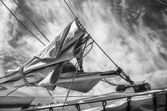 Furled Sail With Sky Royalty Free Stock Images