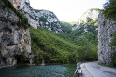 The Furlo pass, marche , Italy Royalty Free Stock Photography